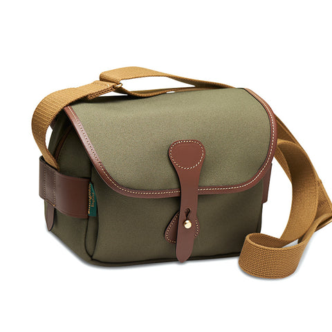 Billingham S2 Shoulder Bag (Sage Canvas / Chocolate Leather Trim)