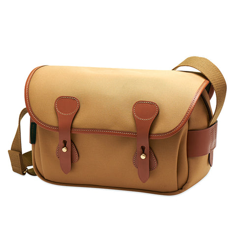Billingham S3 Shoulder Bag (Khaki Canvas / Tan Leather Trim)
