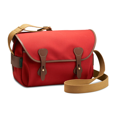 Billingham S4 Shoulder Bag (Burgundy Canvas / Chocolate Leather Trim)