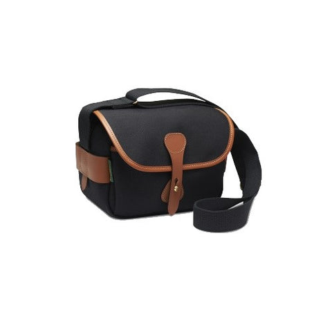 Billingham S2 Shoulder Bag (Black Canvas / Tan Leather Trim)