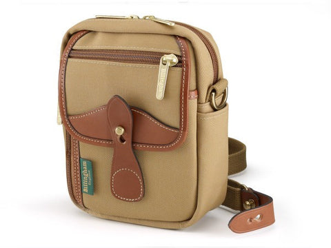Billingham Stowaway Compact Shoulder Bag (Khaki with Tan Leather Trim)
