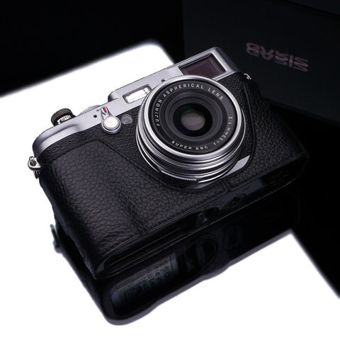 Gariz Fujifilm X100/X100S/X100T Black Label Leather Camera Half Case (Black)