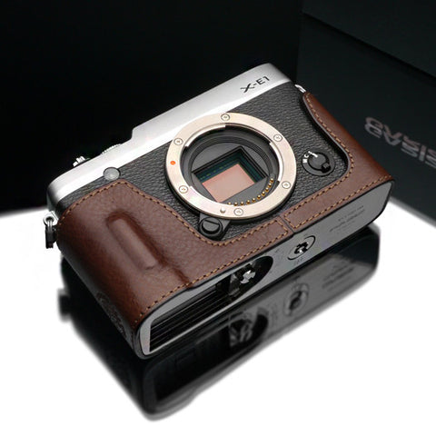 Gariz Fujifilm X-E2 Leather Camera Half Case (Brown)