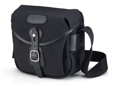 Billingham Hadley Digital Shoulder Bag (Black With Black Leather Trim)