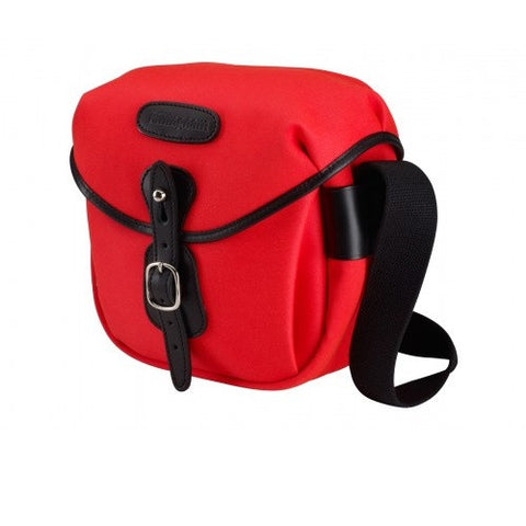 Billingham Hadley Digital Shoulder Bag (Neon RED With Black Leather Trim)