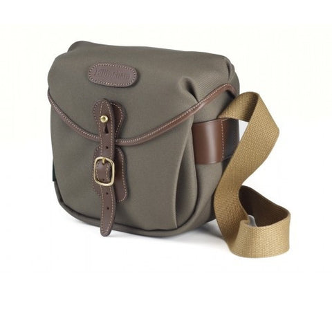 Billingham Hadley Digital Shoulder Bag (Sage FibreNyte With Chocolate Leather Trim)