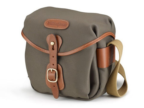 Billingham Hadley Digital Shoulder Bag (Sage FibreNyte With Tan Leather Trim)