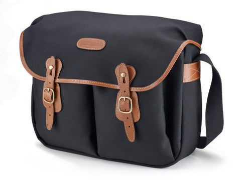 Billingham Hadley Large Shoulder Bag (Black With Tan Leather Trim)