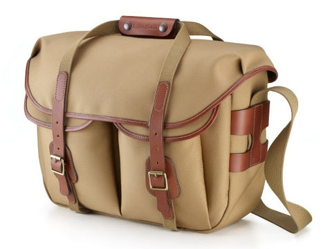 Clearance – Billingham Hadley Large Pro Shoulder Bag (Khaki & Tan Leather Trim)