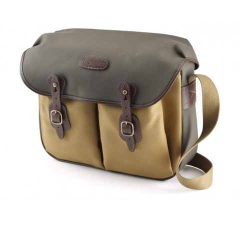 Billingham Hadley Large Shoulder Bag (2-Tones Sage/Khaki FibreNyte With Chocolate Leather Trim)