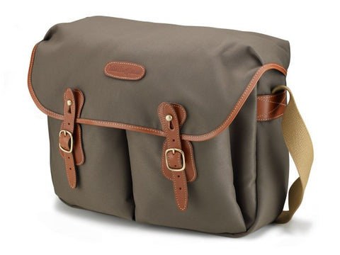 Billingham Hadley Large Shoulder Bag (Sage FibreNyte With Tan Leather Trim)