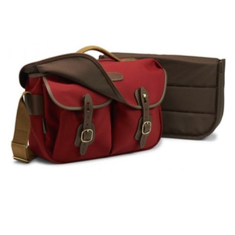 Billingham Hadley Pro Shoulder Bag (Burgundy With Chocolate Leather Trim)