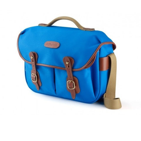 Billingham Hadley Pro Shoulder Bag (Imperial Blue With Tan Leather Trim)