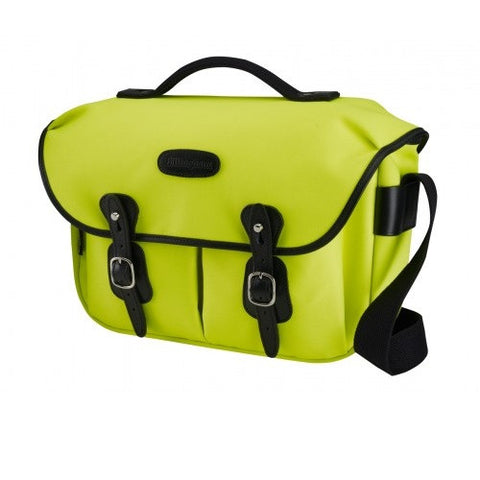 Billingham Hadley Pro Shoulder Bag (Neon Yellow With Black Leather Trim)
