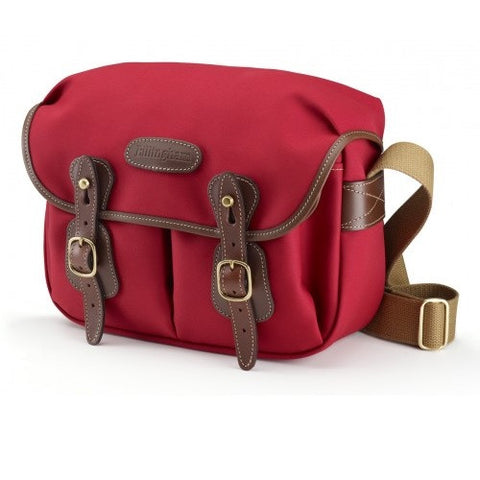 Billingham Hadley Small Shoulder Bag (Burgundy With Chocolate Leather Trim)