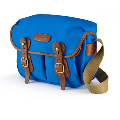 Billingham Hadley Small Shoulder Bag (Imperial Blue With Tan Leather Trim)