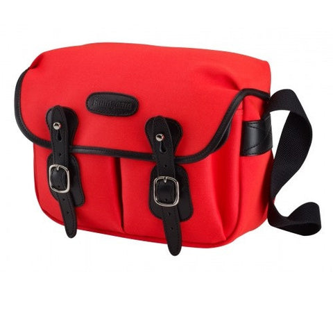 Billingham Hadley Small Shoulder Bag (Neon RED With Black Leather Trim)