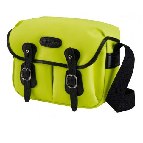 Billingham Hadley Small Shoulder Bag (Neon Yellow With Black Leather Trim)