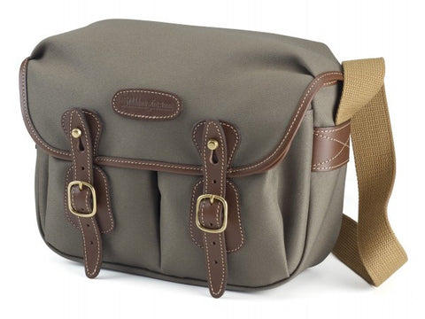 Billingham Hadley Small Shoulder Bag (Sage FibreNyte With Chocolate Leather Trim)
