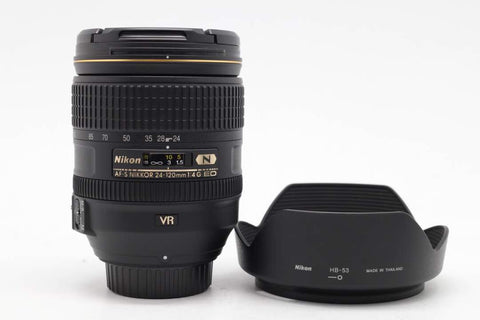 USED-NIKON 24-120MM F4 AFS ED VR N LENS,95% LIKE NEW,YL PUDU