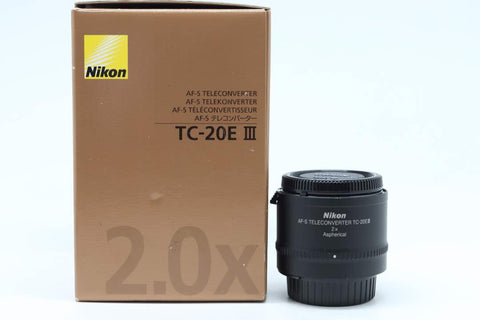 USED-Nikon TC-20E III AF-S TELECONVERTER ,95% LIKE NEW s/n 203871,YL PUDU