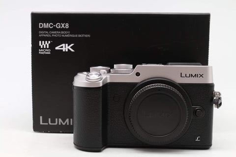 USED-Panasonic GX8 CAMERA BODY,98% LIKE NEW, s/n WG6DB001216,YL PUDU