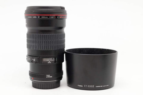 USED-Canon 200mm F2.8 L EF USM LENS, 85% LIKE NEW s/n 130158,YL PUDU