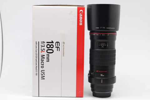 USED-Canon 180mm F3.5 L Macro EF USM LENS,90%  LIKE NEW ,s/n44782, YL PUDU
