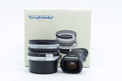 USED-VOIGTLANDER 21MM F4 SC-SKOPAR LENS WITH FINDER FOR VM MOUNT,90% LIKE NEW,SN:5002081