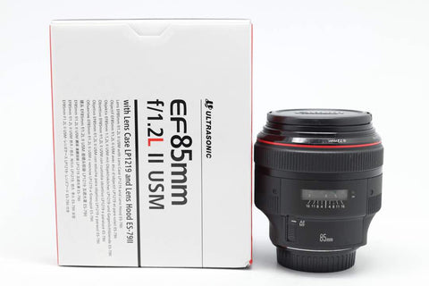 USED-Canon 85mm F1.2 EF L II USM LENS  90% LIKE NEW s/n 197882,YL PUDU