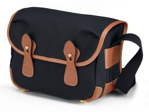Billingham L2 Shoulder Bag (Black With Tan Leather Trim)