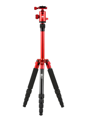 Sirui T-005RX Aluminium Tripod + C10X Ball Head (RED)