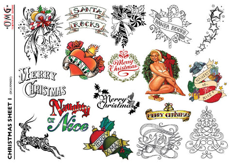 Christmas Tattoos 1