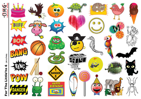 Temporary Tattoos OMG Little'ns- For Kids 6