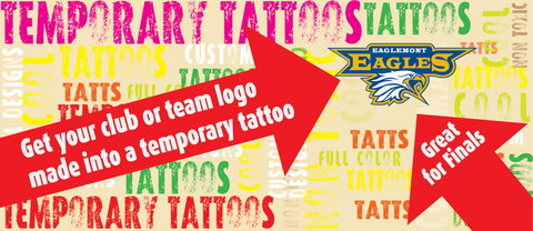 Temporary Tattoos OMG Club and Team Tattoos (rectangular)