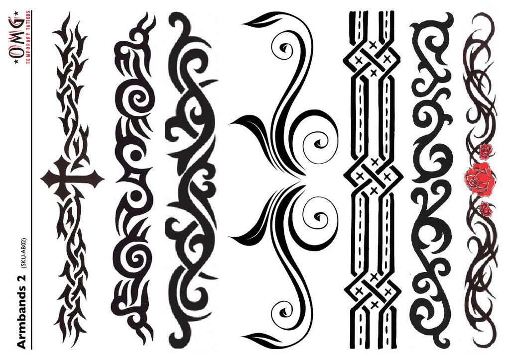 Temporary Tattoos Fake Sticker Armbands 2