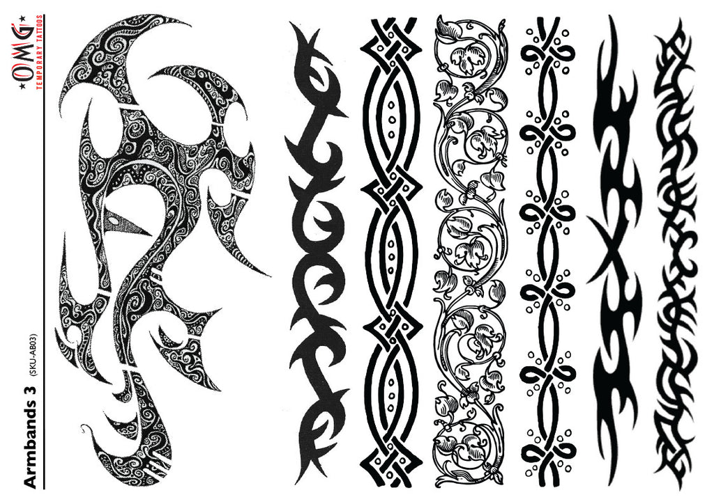 Temporary Tattoos Fake Sticker Armbands 3