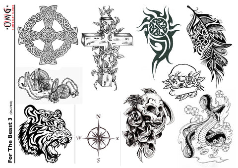 Temporary Tattoos OMG For The Beast 3