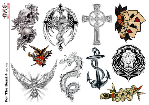 Temporary Tattoos OMG For The Beast 4
