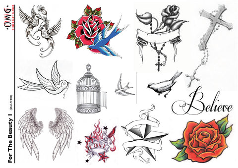 Temporary Tattoo's OMG For The Beauty 1