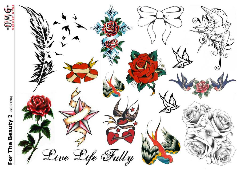 Sticker Fake Stick on Temporary Tattoos Beauty 2