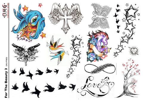 Temporary Tattoos OMG For The Beauty 3