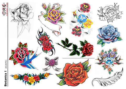 Temporary Tattoos OMG Botanica - Flowers 1