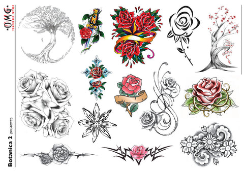 Temporary Tattoos OMG Botanica - Flowers 2