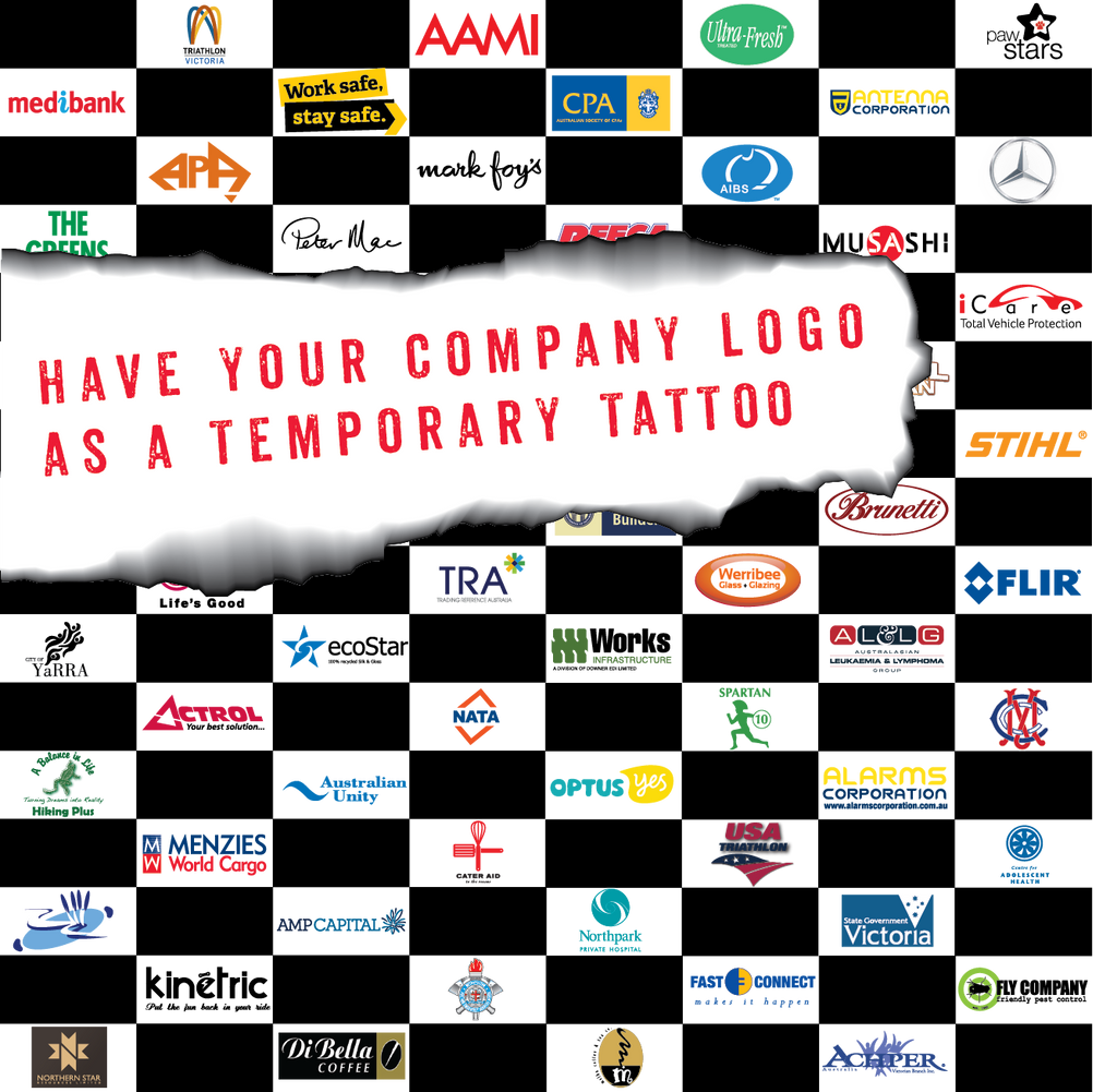 Temporary Tattoos Fake Sticker Stick-on Company logo Square