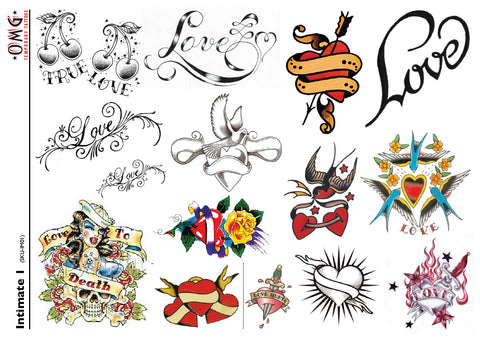 Temporary Tattoos OMG Intimate 1