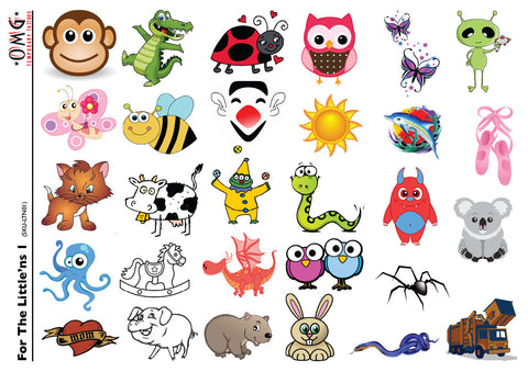 Temporary Tattoos OMG Little'ns- For Kids 1