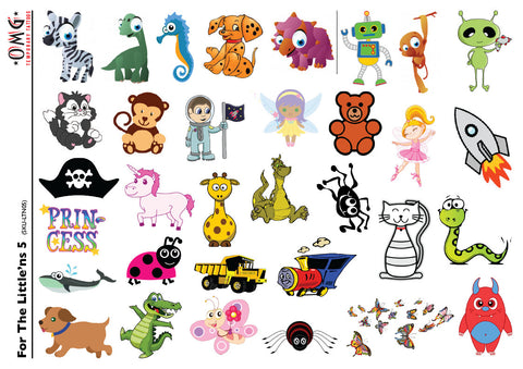 Temporary Tattoos OMG Little'ns- For Kids 5