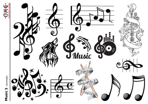 Temporary Tattoos OMG Music 2