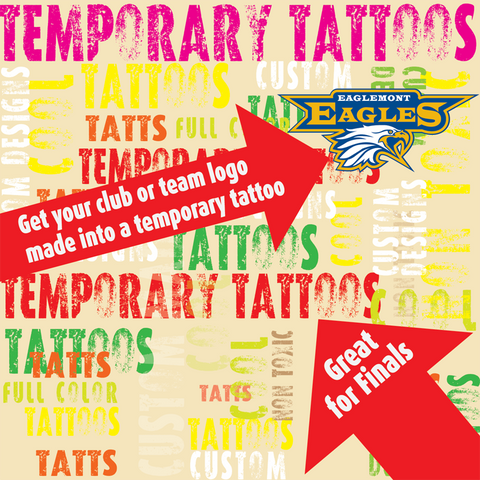 Temporary Tattoos OMG Club and Team Tattoos (square)